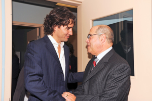 Justin Trudeau and Philip Silverberg, co-founder of UP House inaugurating UP House, October 2010